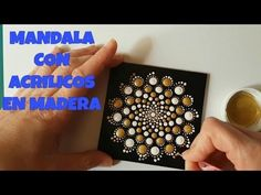 How to paint mandalas with acrylics #2 - YouTube