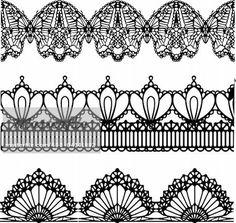 Risultati immagini per victorian lace tattoo Lace Garter Tattoos, Lace Tattoo, Lace Drawing, Pattern Drawing, Illustration Mode, Victorian Lace, Lace Patterns, Jewelry Patterns, Lace Design