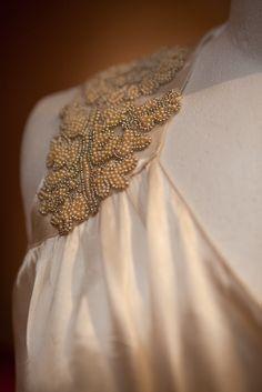 breathtaking details on a vintage wedding dress. wowzers.