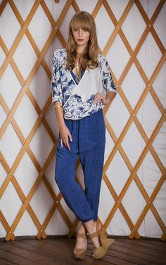 #THEODELLS #chambray Slouch Pant + Birds of Flight Top #spring14