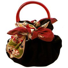 Furoshiki-Bag  ...Love the Bow...  all you need is a scarf and pair of handles!