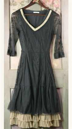SMOKY PEARLED BALLERINA  DRESS 2x $179.95 Victorian Trading Co.
