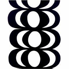 Kaivo fabric, white-black - Marimekko
