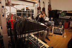 clark in the studio