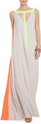 Color Blocked Cutout Maxi Dress