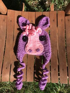 A personal favorite from my Etsy shop https://www.etsy.com/listing/460495164/69-month-pony-earflap-beanie