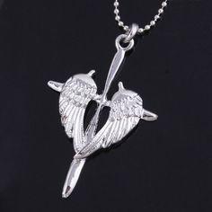 Angel Wing Cross Necklace