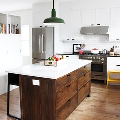 This is really for something else (meal delivery with vinyl records), but I like this kitchen