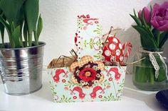 geliebtes zuhause: (oster-)geschenke-körbchen aus papier basteln