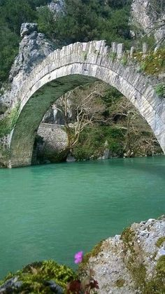 Bridge in the village of Aristi Old Bridges, Greece Pictures, Take The High Road, Across The Bridge, Greek Islands, Amazing Architecture, Nature Photos, Places To Travel, Tourism