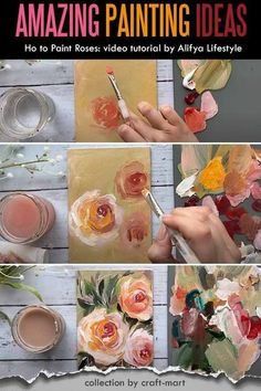 Easy Acrylic Painting Ideas for Beginners - DIY Abstract Art; this collection of amazing yet easy ideas for painting with acrylics is guarenteed to inspire your next masterpiece; with step-by-step tutorials for beginners learn how to paint abstract DIY, paint roses, sunflowers, create star-studded galaxy paintings and even use saop to paint flowers. #acrylicpaintingideas #easypaintingideas #DIYpainting #paintingwithacrylics Easy Painting For Kids, Easy Canvas Painting, Simple Acrylic Paintings, Galaxy Painting, Beginner Painting, Easy Paintings, Diy Painting, Painting Tutorials, Hydrangea Painting