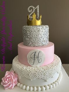 2 Tier Birthday Cakes, Guys 21st Birthday, Sweet 16 Birthday Cake, 21st Birthday Cakes, 21 Bday Ideas, Cakes Plus, Cheesecake Cupcakes, Types Of Cakes, Mouse Cake