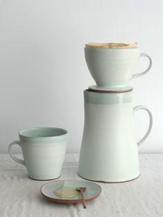 Handmade ceramic coffee pour over by Kalika Bowlby. www.kalika.ca