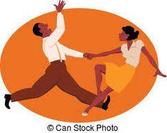 Moderne SIXTIES Jive partenaire danse dance studio salon Mur Art Autocollant