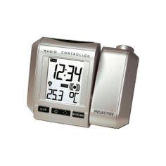 Radiogestuurde wekker met uurprojectie in de Conrad online shop.  Niet mooi, wel goede reviews