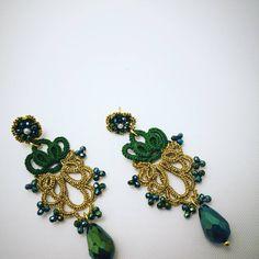 Tatting Earrings, Tatting Jewelry, Lace Earrings, Bridal Earrings, Wire Jewelry, Needle Tatting, Tatting Lace, Crochet Accessories, Crochet Projects