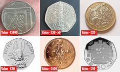 Valuable coins revealed: Why that could be worth Next time you& given a handful of change in a shop, stop and look. Some coins are worth much more than face value, we reveal some of the best. Rare Coins Worth Money, Valuable Coins, E30, 50p Coin Value, Ted 2, Rare British Coins, Old Coins Value, Value Of Silver Coins, English Coins