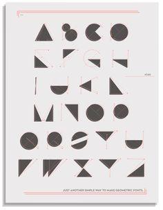 Geometric Typography - yaisalinas
