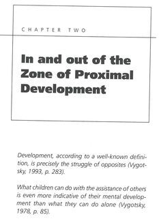 In and out of the Zone of Proximal Development Vygotksy on Education R. Lake Zone van de naaste ontwikkeling, StiBCO,boek in het bezit van Emiel van Doorn