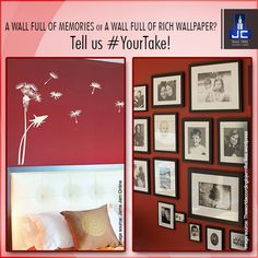 A wall full of photographs and frames cherishing the memories or a wall beautifully painted with a rich wallpaper? Tell us #YourTake for the type of wall you prefer!