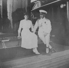 Grand Duchess Tatiana Nikolaevna Romanova of Russia on the Standart with Captain Nikolai Sablin,1913.A♥W