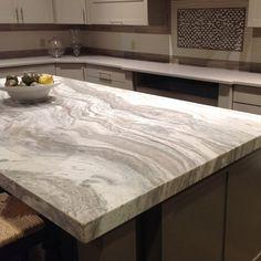 Fantasy Brown Satin Natural Stone Marble Slab | Arizona Tile