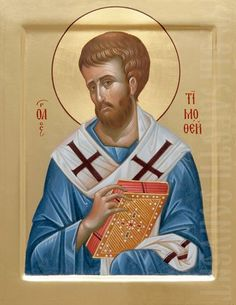 This icon of Holy Apostle Timothy is painted to order by expert icon painters of St Elisabeth Convent. Read a detailed description of the icon in our Catalog Saint Timothy, Fortune Cards, Paint Icon, T Mo, Byzantine Icons, Orthodox Icons, Christian Art, Religious Art, Christianity