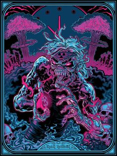 Iron Maiden - 2 Minutes to Midnight poster by Zombie Yeti