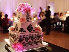 best pink wedding cakes design