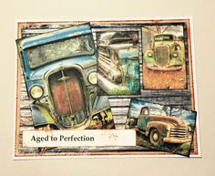 Aged to Perfection by Kemernow - Cards and Paper Crafts at Splitcoaststampers Embossing Machine, Aged To Perfection, Art Cards, Alcohol Inks, My Collection, Masculine Cards, Duct Tape, Pitch, Bodies
