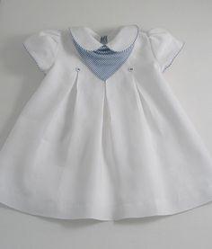 White Linen Yacht Dress - Patricia Smith Designs