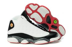 Men\\u0026#39;s Air Jordan 13 Retro Shoes Black White Red -