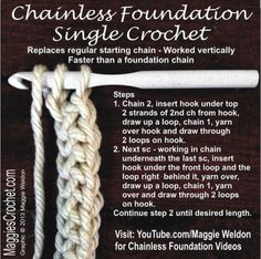 Does the idea of starting a new crochet project with a foundation chain make you want to give up before you've even gotten started? You'll definitely want to check out this chainless foundation method for single crochet!