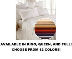 Christopher Adams 100% Wrinkle Free Super Soft Breathable Microfiber 4-Piece Bed Sheet Set - Choose Size/Color - $18.95 + Shipping!