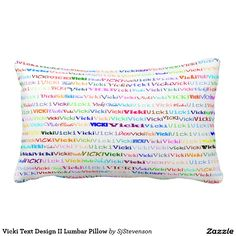 Vicki Text Design II Lumbar Pillow