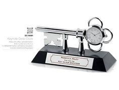 #desk #award #clock #key to success