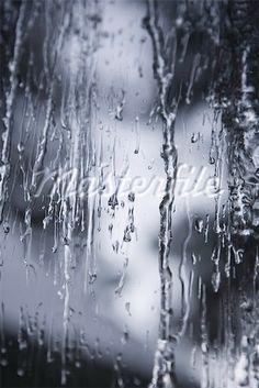 Rain dripping down glass pane - Stock Photos : Masterfile Beacon Food, Water Drip, Rain, Window, Stock Photos, Signs, Abstract, Glass, Artwork