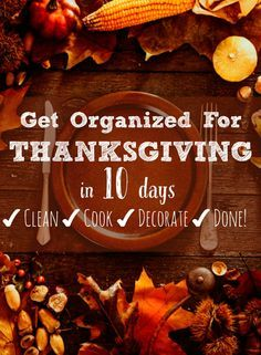 Take the stress out of Thanksgiving with this guide to cleaning and decorating your house, planning your menu, and scheduling the cooking so you can enjoy your guests! Traditional Thanksgiving Dinner, Hosting Thanksgiving, Thanksgiving Traditions, Thanksgiving Parties, Thanksgiving Activities, Thanksgiving Appetizers, Thanksgiving Sides, Thanksgiving Recipes, Thanksgiving Sayings