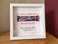 MOTHER'S DAY Gift NOVELTY Mum Emergency Chocolate Frame Mother's Day Gift Idea??