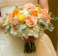 Bridal-Bouquet-of-Yellow-Ranunculus-Orange-Spray-Roses-Peach-Spray-Roses-Coral-Yarrow-White-Hydrangea-and-Wax-and-Dusty-Miller-The-French-Bouquet-Chris-Humprehy-Photographer-245x235.jpg (245×235)