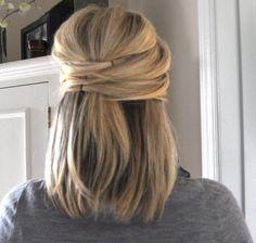 medium Hair Formal Occasion | half tie 25 Cute Hairstyles For Medium Hair