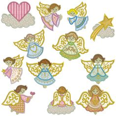 ANGELS 1 Machine Applique - Machine Embroidery Design for sale at http://www.southerncrossembroidery.com/market/angels-1-machine-applique/