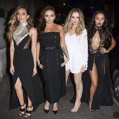 """Little Mix Updates/News on Instagram: """"Little Mix arriving to their Black Magic Number 1 party - gaby (3)"""""""