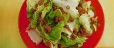Recept Hlávkový salát se zálivkou a špekem Tacos, Mexican, Chicken, Meat, Ethnic Recipes, Food, Essen, Meals, Yemek