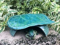 Toad Abode Frog House For Green Garden Leaf by MyMothersGarden