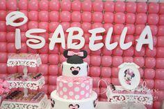 Isabella's 1st Minnie Birthday | CatchMyParty.com