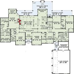 4 Bedroom Grandeur - 60502ND | European, French Country, Luxury, Photo Gallery, 1st Floor Master Suite, Bonus Room, Butler Walk-in Pantry, CAD Available, Den-Office-Library-Study, Jack & Jill Bath, Loft, MBR Sitting Area, PDF, Split Bedrooms | Architectural Designs