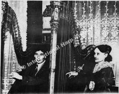 Harpo Marx and Mme. Henriette Renie. Renie is my favorite harp composer now. I've learn a few of her songs and they are beautiful! She was Marcel Grandjany's teacher.