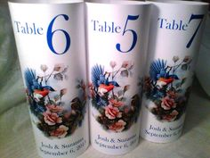 Love Birds Table Number LUMINARY Towers Love Birds by evelynne99, $1.85