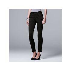 Women's Simply Vera Vera Wang Straight-Leg Jeans, Size: 10 Short, Black
